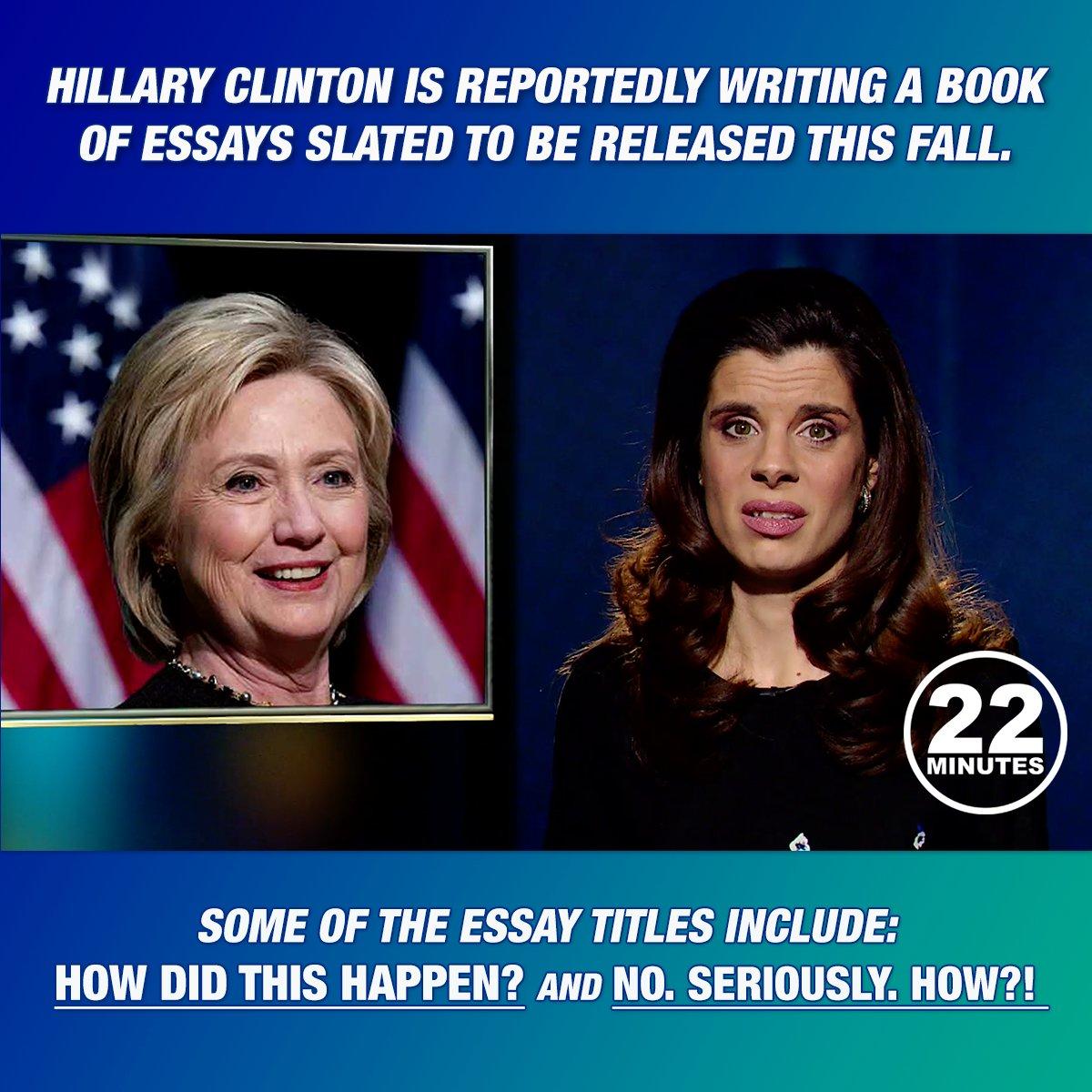 Anyone? #HillaryClinton #22minutes