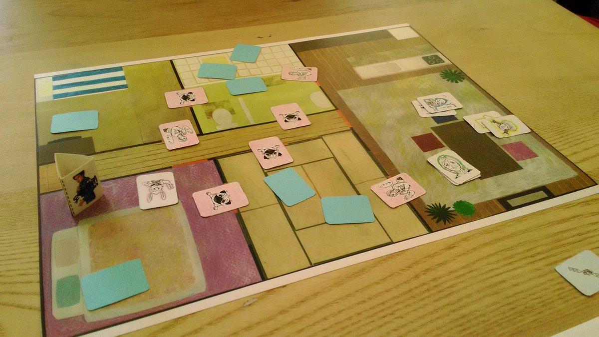 渋谷のfabcafeにて宇宙兄弟ボードゲームをプレイ。一緒にプレイしたご夫妻は『宇宙兄弟』をきっかけに、家族みんなでまI