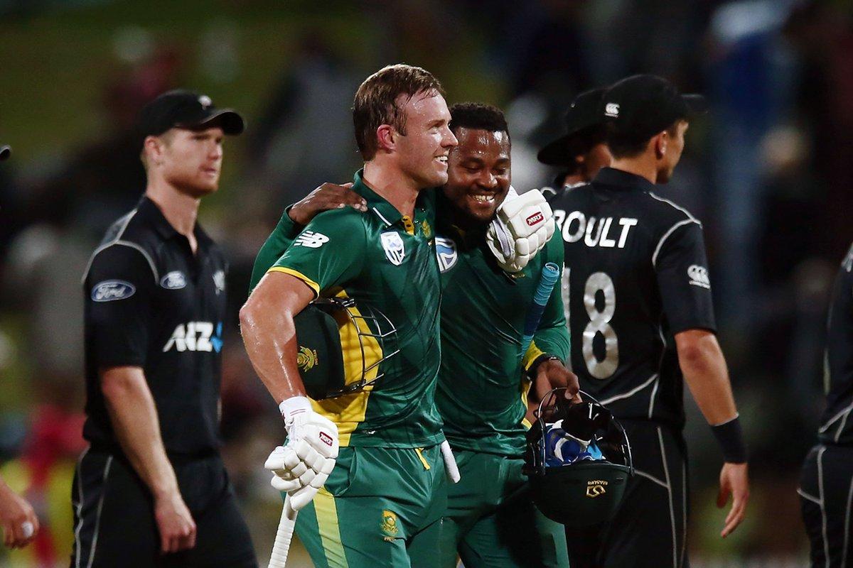 #CSAnews Proteas take first ODI with tense win in Hamilton #ProteaFire #NZvSA