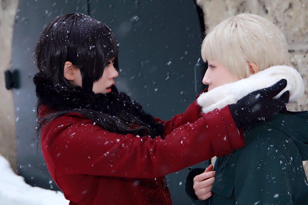 【コスプレ/櫻子さんの足下には死体が埋まっている】今日は冷える、首元は暖かくしておくんだ九条櫻子: 館脇正太郎: さんP