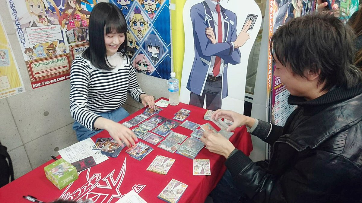 【#わたつよ】本日1店舗めはイエローサブマリン名古屋GAMESHOPさま!昨日に引き続き、ゲストは尾崎由香さん!尾崎さん