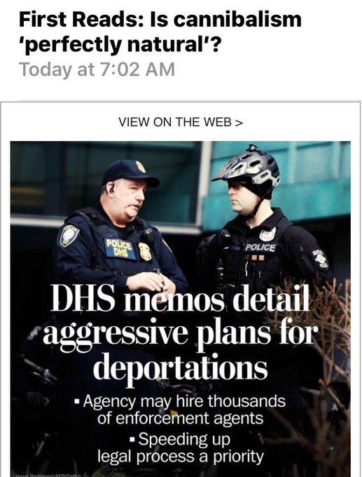Once again, pleasing @washingtonpost email juxtaposition #Subtle