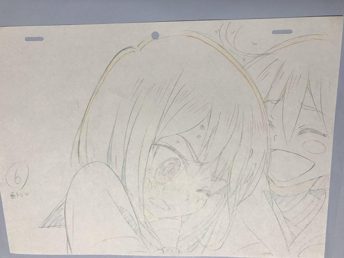 原画はパピココ!1話のピュアイリュージョンに行く直前のとこかな二人ともかわいい#フリフラ_アニメ#フリフラ原画