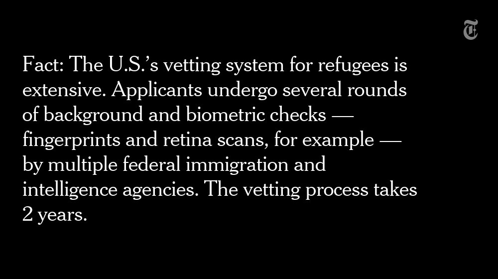 Fact check: President Trump warned that refugees coming into the U.S. are not screened. That is false. https://t.co/kTv0rDUMco