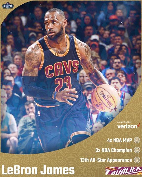 The #NBAAllStar vet, @KingJames, will make his 13th ASG start Tonight on TNT!