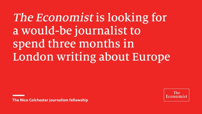 @TheEconomist: Will Donald Trump make or break Europe? Apply for the Nico Colchester fellowship  https://t.co/yYuYWh45MX https://t.co/Kazcf0Z20c
