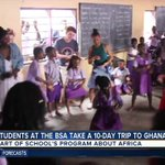 Students at the Baltimore School for the Arts share experiences of traveling to Ghana