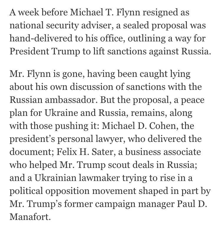 Notice Mr. Sater, scout for all that Russian business Trump doesn't have, and Mr. Cohen, who's never been to Prague https://t.co/RaJBMxHseK
