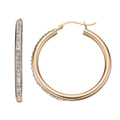 Get Best Price For Crystal 14k Gold Over Silver Hoop Earrings Get Now #BestBuy at https://t.co/zUdN8fR8DD https://t.co/hHPICoUlX3