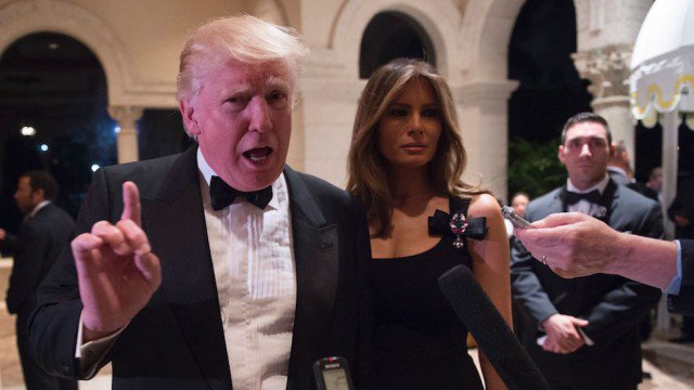 Trump attends private Mar-a-Lago event without telling media