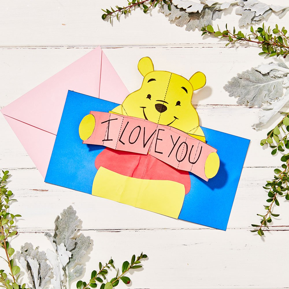 Send a sweet note with this willy, nilly, silly, pop-up Pooh Bear from @Disney_Family