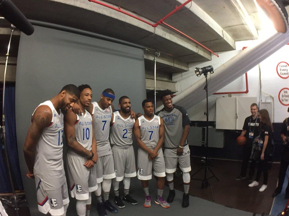 RT @nyknicks: The East. #CarmeloAnthony #NBAAllStar #Knicks https://t.co/MAve1pvl62