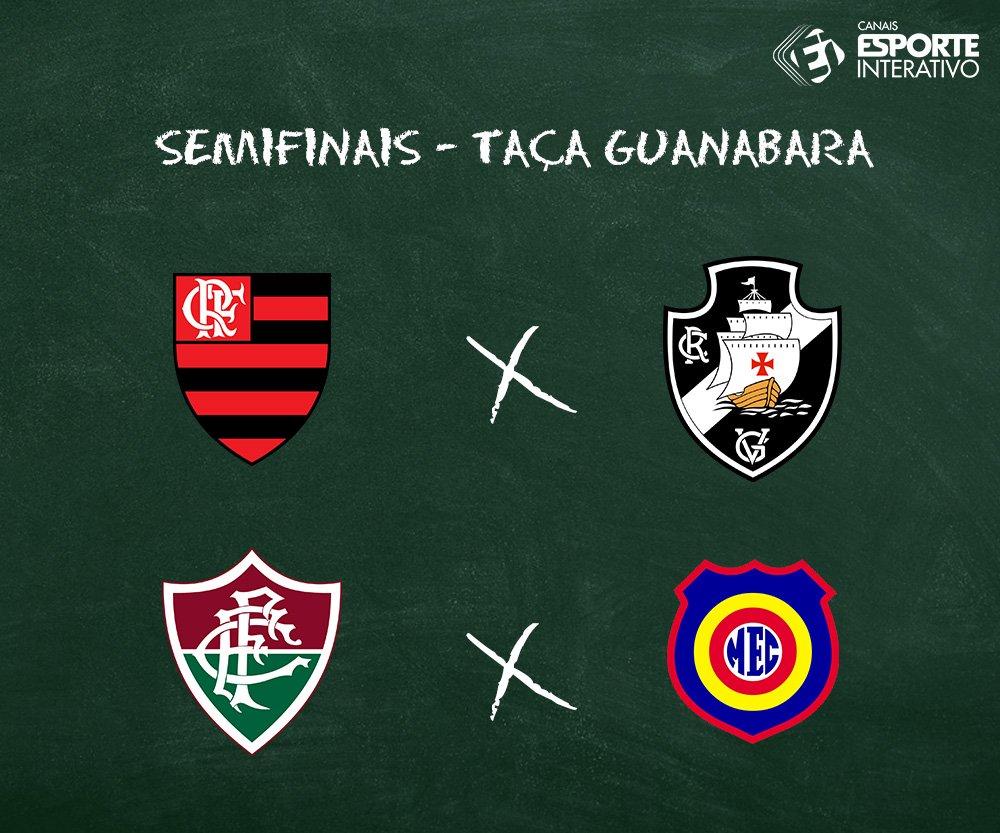 Já estão definidos os confrontos das semifinais da Taça Guanabara! E aí, quem vai ser o campeão?