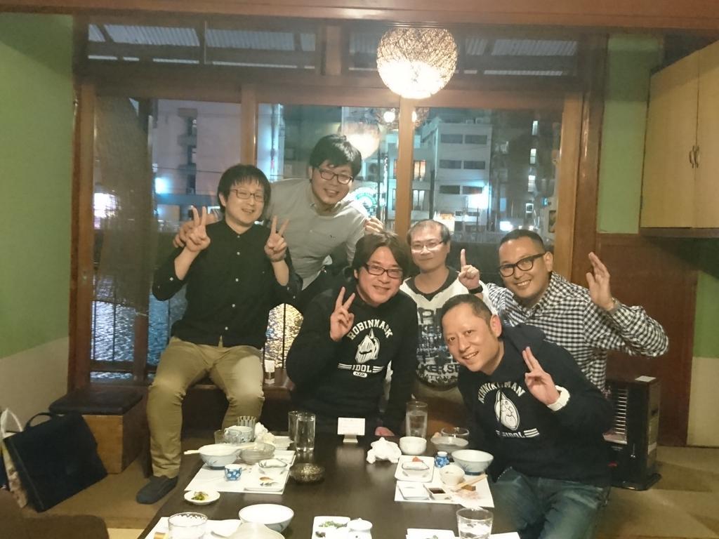 土日は福岡に行ってました。福岡在住の『キングダム』作者 原泰久先生に会いに行くためです。水炊き屋で大宴会 その後も二次会