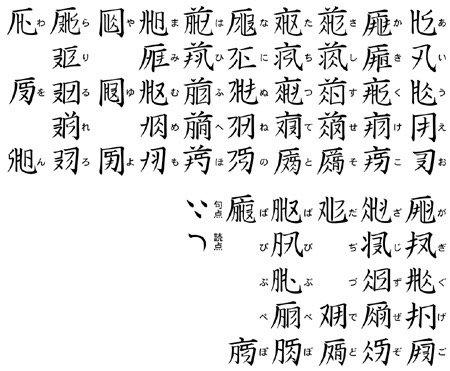 「精霊の守り人」ヨゴ文字。漢字とタイ語を足して二で割った感じ。ステキです。