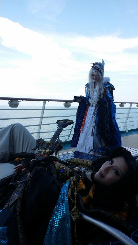 Thunderbolt vacation.東離劍遊紀の格好で豪華客船乗ってきました!