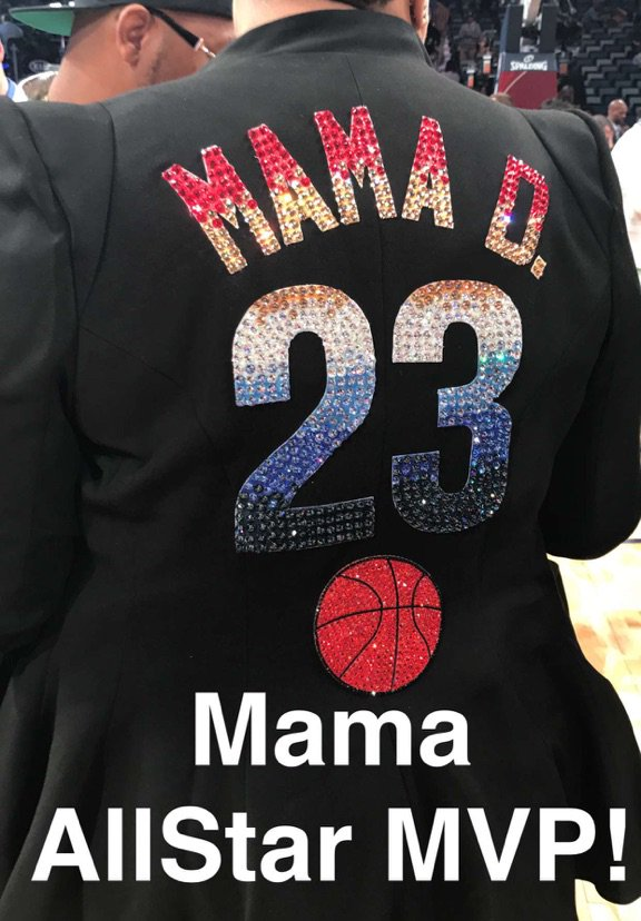 Mama #NBAAllStar MVP! https://t.co/BABUh1Levl