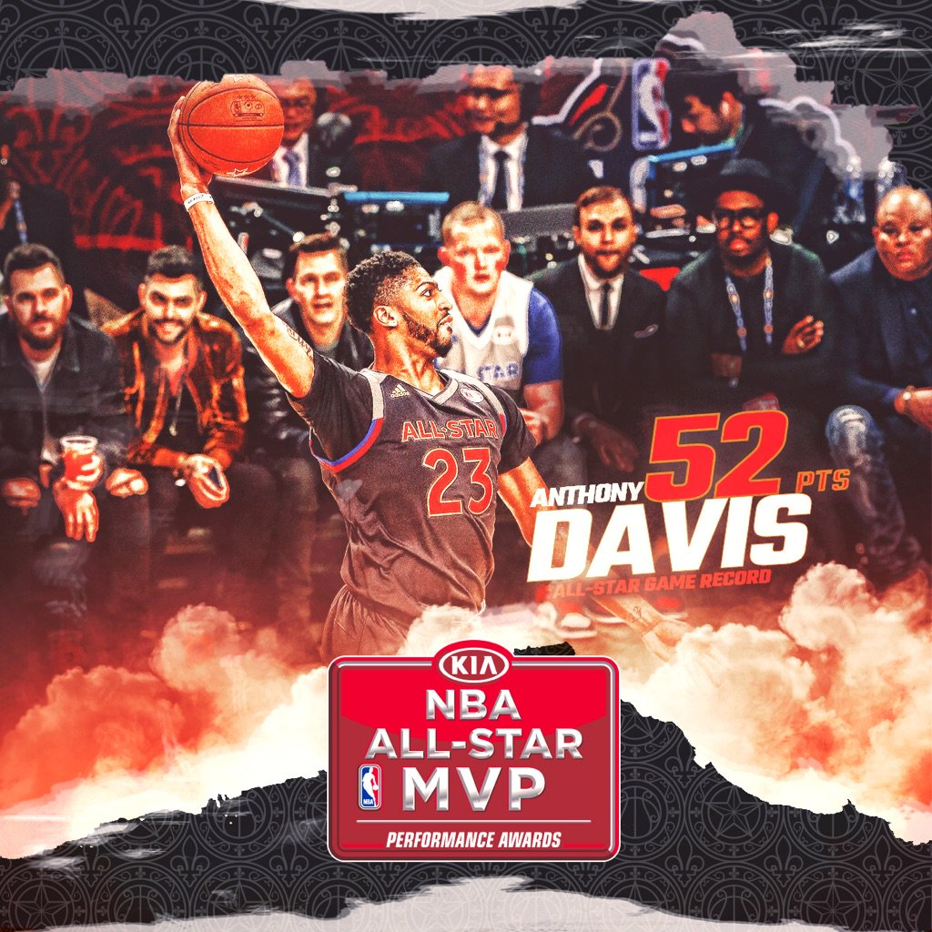 A new #NBAAllStar scoring record for the #KiaAllStar MVP, @AntDavis23! https://t.co/YijuWGezcA