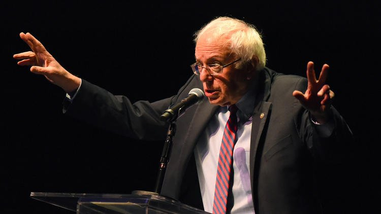 Bernie Sanders in Los Angeles 'We are looking at a totally new political world'