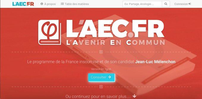 Découvrez https://t.co/3r41VJNciq, une initiative citoyenne de mise à disposition en ligne du programme «L'Avenir en commun». #LAEC @LAEC_fr