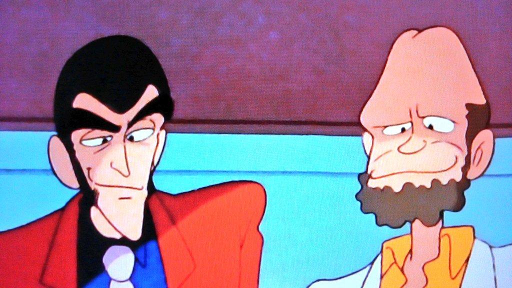 MXでルパンを見てるなうニセルパンの顔がキモかったり、博士の頭部がワイセツだったり・・・なかなかの問題作だ#ルパン三世