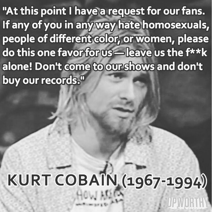 Would\ve been 50 today. Happy birthday, Kurt Cobain! My Gen X heart still loves you very much.
