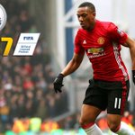 Manchester United's Anthony Martial isn't happy with his pace rating in FIFA 17