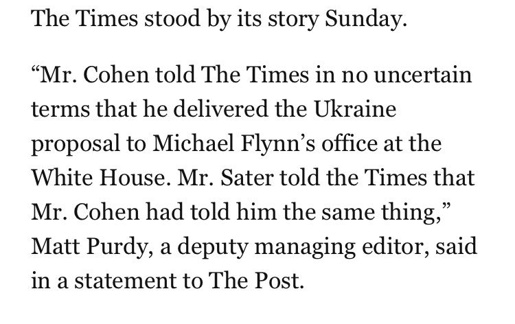 Pres. Trump's personal lawyer gave two different accounts here - one to the @nytimes, another to the @washingtonpost https://t.co/ekia1aB8EO