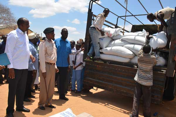 Over 30 schools in Garissa receive relief food