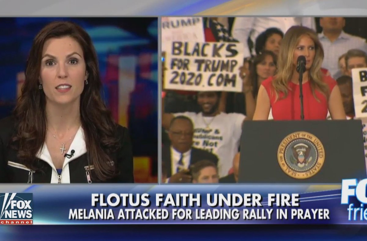 @TayaKyle Takes on Liberal Attacks on @MELANIATRUMP for Reciting Lord's Prayer @foxandfriends https://t.co/CMTwlnNLtV
