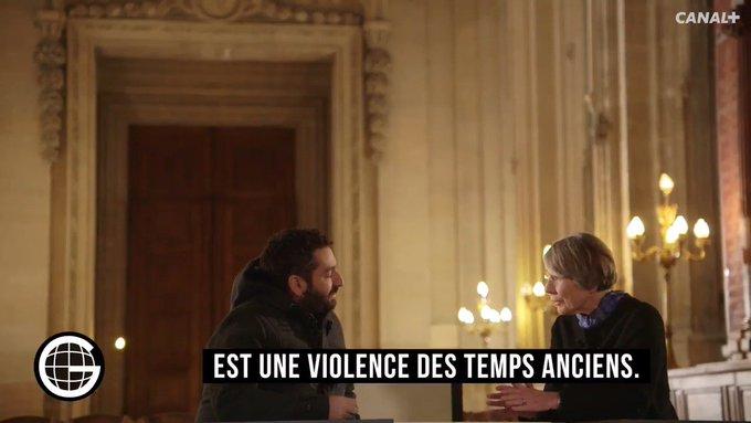 'La violence des livres anciens, Bible ou Coran, est une violence des temps anciens.' - Anne Soupa au #GrosJournal