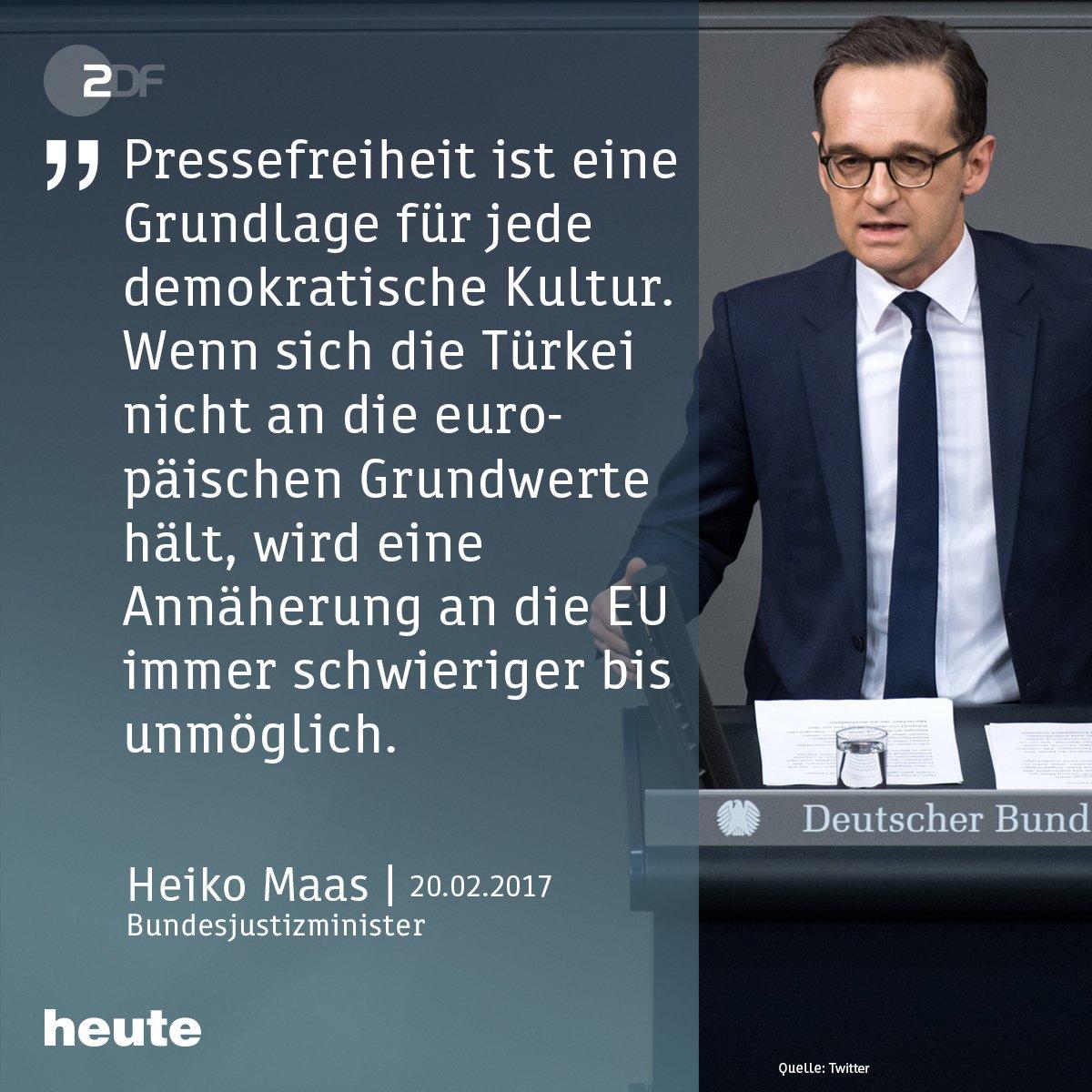 Deniz #Yücel bleibt vorerst in Polizeigewahrsam in der Türkei. Bundesjustizminister Heiko #Maas zum Fall des 'Welt'-Korrespondenten.