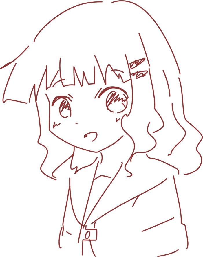 余った2分を使って櫻子さんを描きました