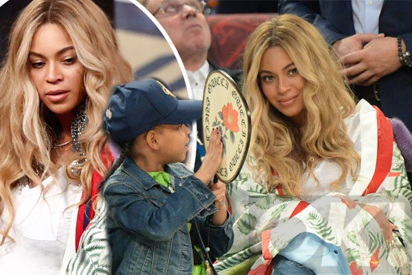 .@Beyonce was spotted looking FLAWLESS with her bump at a basketball game yesterday