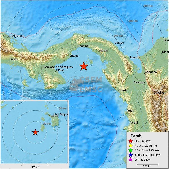 Felt #earthquake M4.7 strikes 81 km S of #Panamá (#Panama) 25 min ago. Please report to: https://t.co/Xl0q7D6QO0
