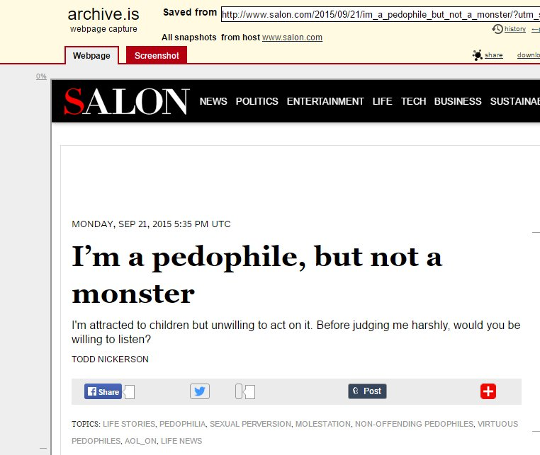 RT @stillgray: This article no longer exists on Salon. https://t.co/5VnO8SmsZp