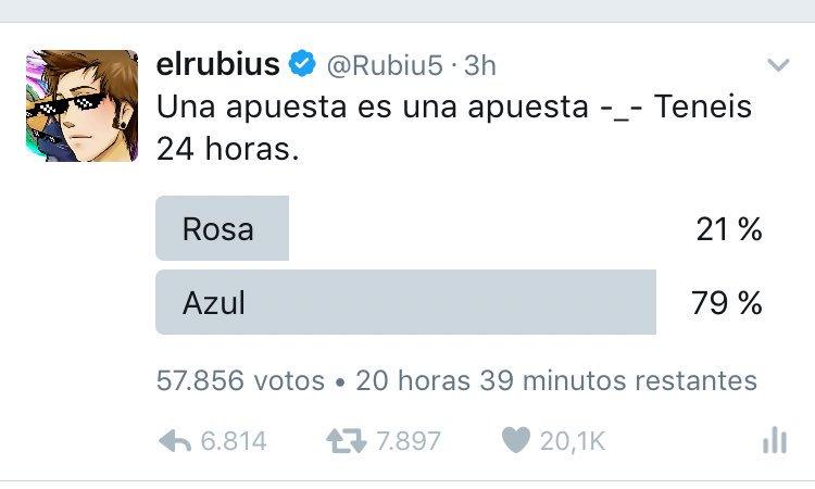 WTF???? Hace media hora estaba al 49% azul y 51% rosa y ahora se ha ido todo al azul. Que ha pasado aqui??? 🦉