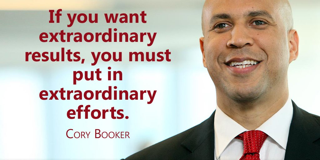 RT @tweet_jukebox: If you want extraordinary results, you must put in extraordinary efforts. - Cory Booker #quote https://t.co/XI0eVDfihT