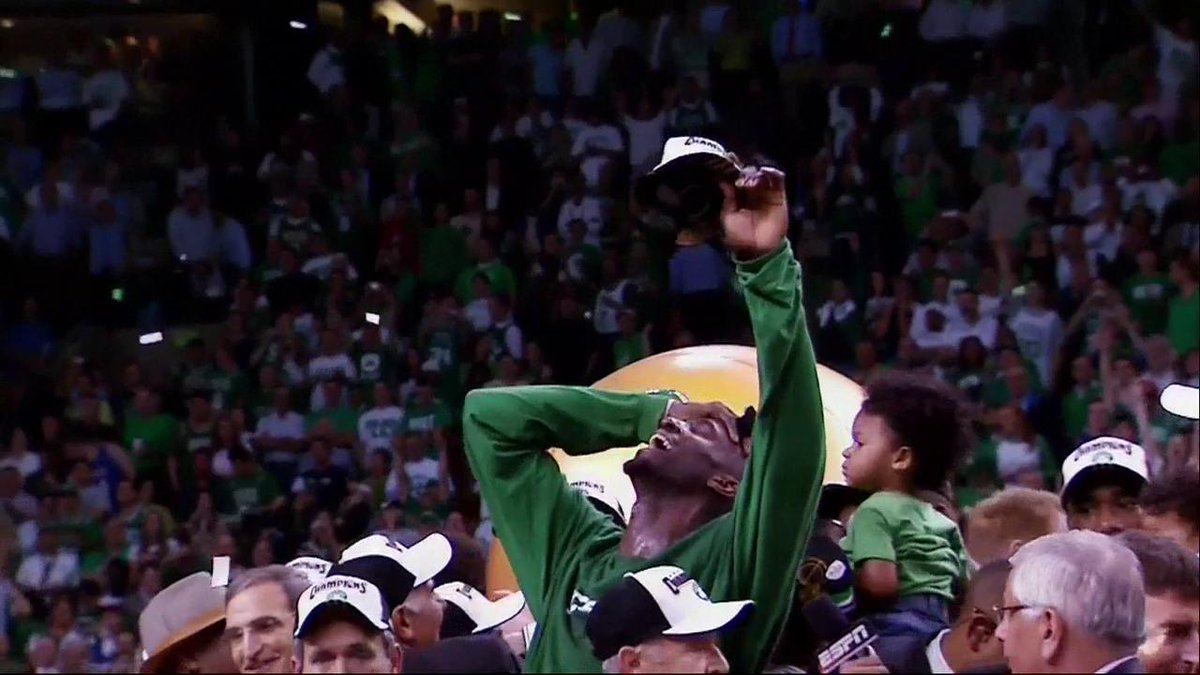 """""""Anything is possible!""""@KGArea21 remembers winning the title in 2008 with the @celtics 🍀"""