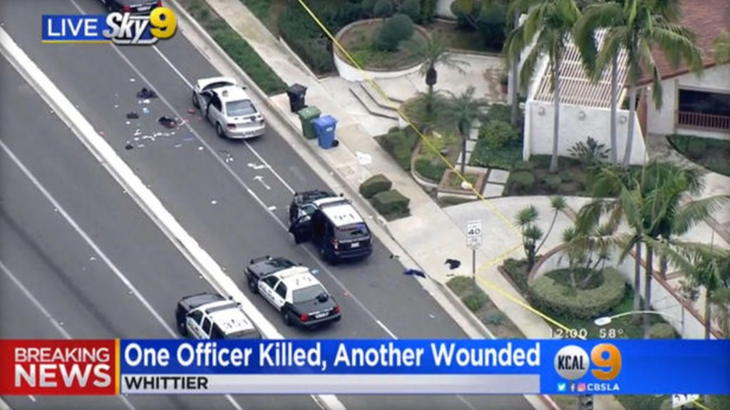 California police officer shot dead after responding to report of traffic accident: https://t.co/qT4cvt9MTR