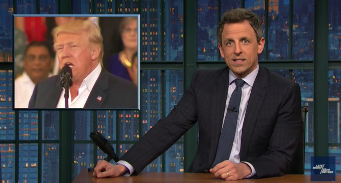 'We're getting roasted by Swedes now': Seth Meyers destroys Donald Trump's 'Swedish crime' flub https://t.co/RxHHALAGIJ