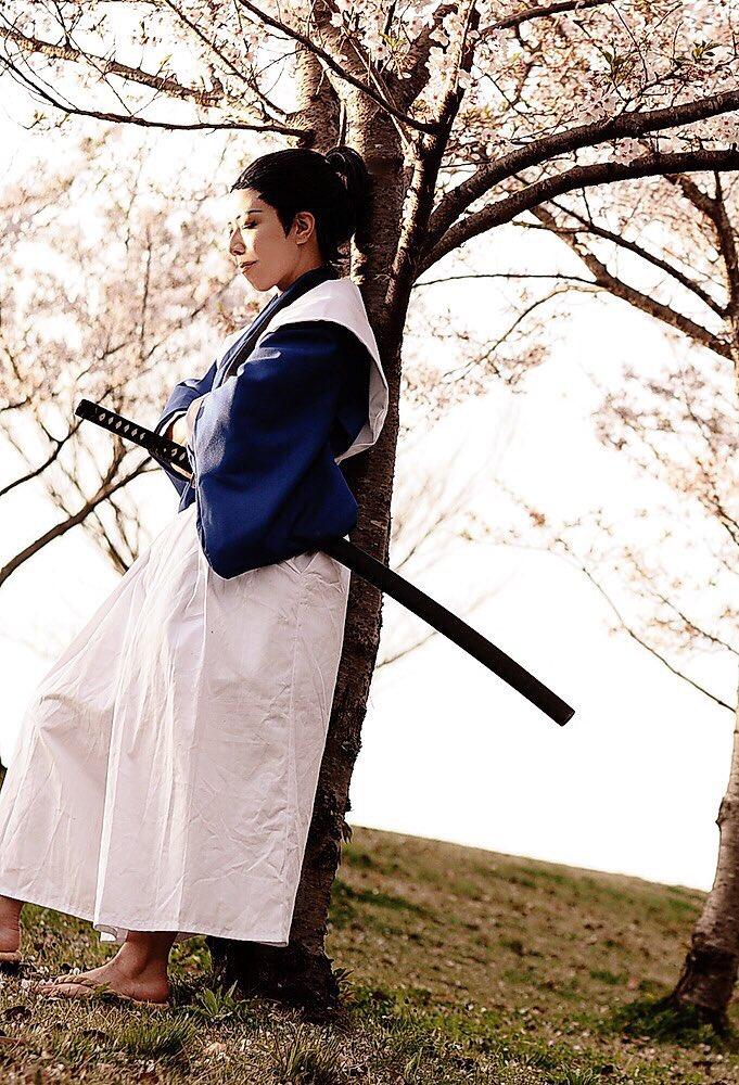 【コス写真】信長協奏曲 明智光秀 撮影 これ去年か...!!今年も夜桜撮影に行けそうで楽しみʕʘ̅͜ʘ̅ʔ鶴丸か三日月で
