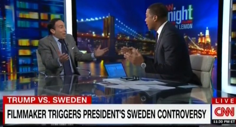 Watch Don Lemon take down the filmmaker whose sloppy use of numbers provoked Trump's Sweden comments https://t.co/QlwGXSwWAj