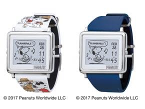 """エプソン、電子ペーパー腕時計「Smart Canvas」に""""スヌーピー""""柄モデルを追加 - ITmedia"""