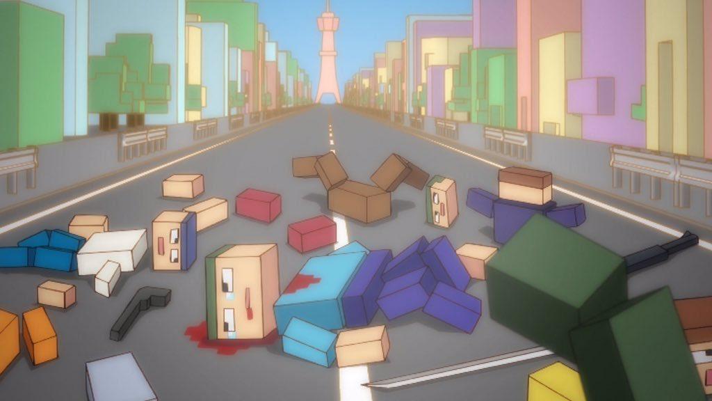 【ばくおん!!】の教習所のシュミュレーターのコースだよwww轢き殺してOKらしいwww