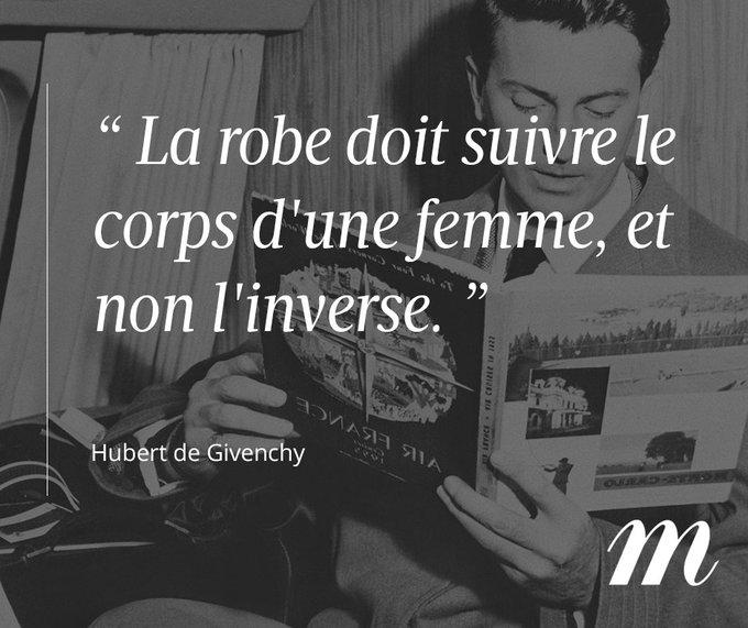 Hubert de #Givenchy fête aujourd'hui son 90ème anniversaire !