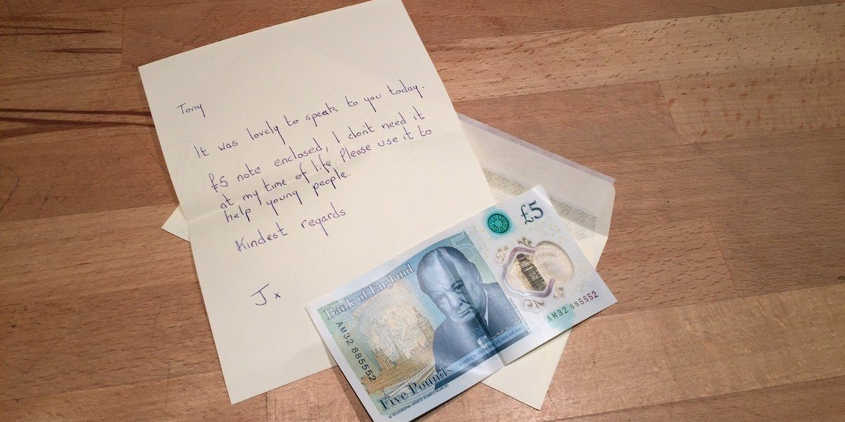 북아일랜드의 한 여성이 7천만원 짜리 5파운드 지폐를 기부한 이유 https://t.co/KbKYKqvMp2