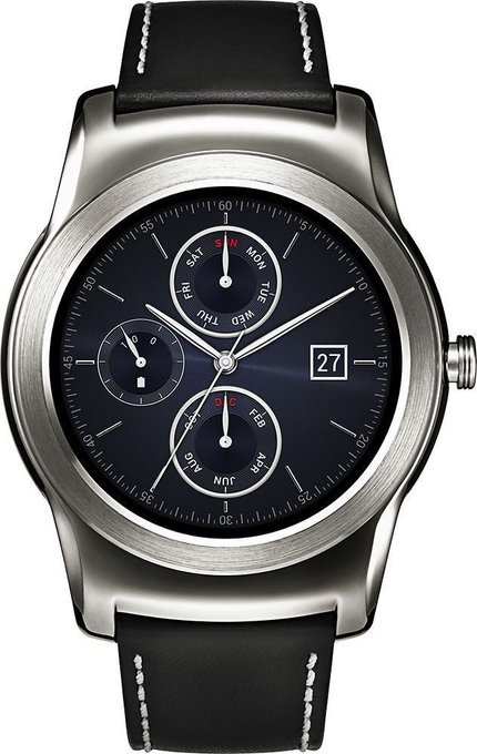 #free #style #fashion #digital #smart #watch #giveaway LG GW150 Watch Urbane Smartwatch 46mm Stainless Steel – Genuine Leather #rt