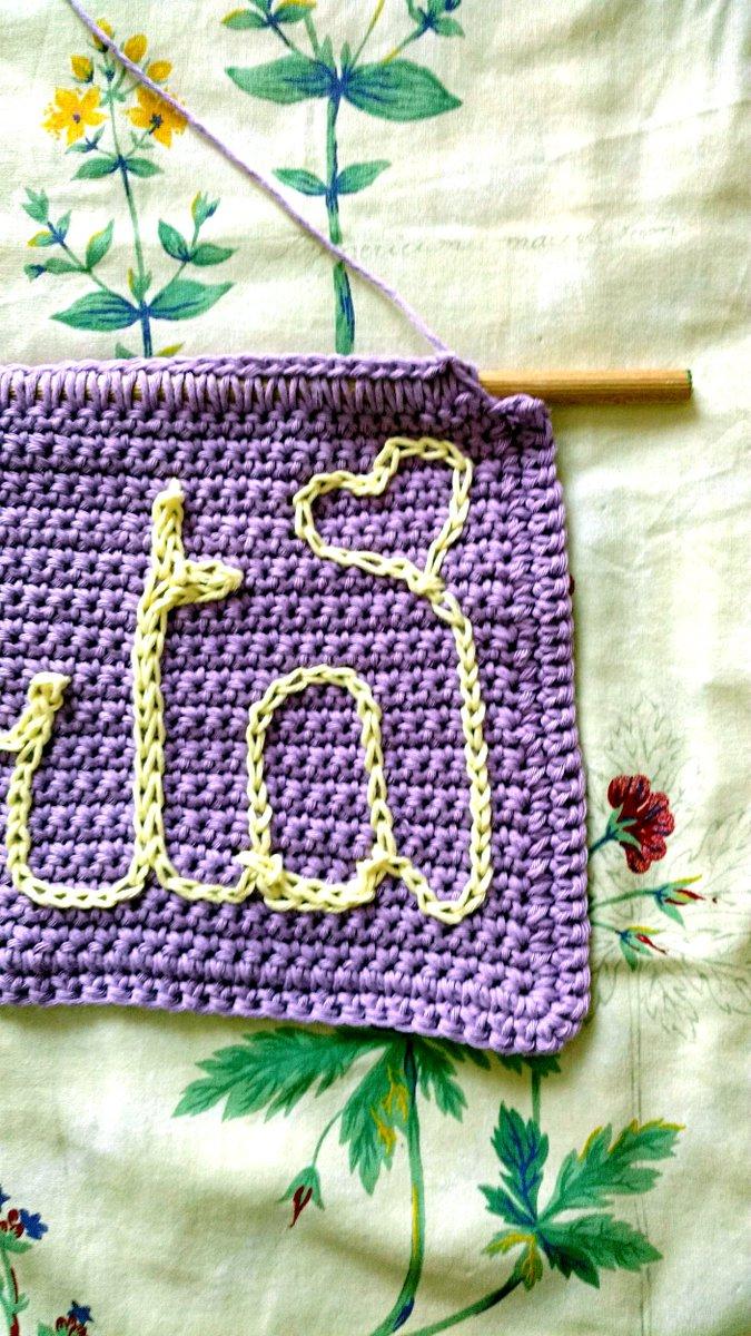 Crochet banner with name https://t.co/EunVR5eJ9v #crochet #uncinetto #HandmadeHour #creativity https://t.co/L2xzC9ZxK6