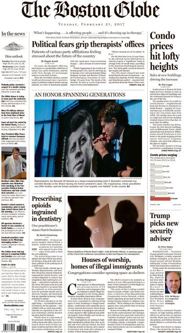 In today's Globe: Trump's new national security adviser, city condo prices at lofty highs, more https://t.co/KRDWH4Fb9P